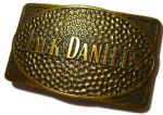 Jack Daniel's 'Old Brass' Rectangle Officially Licensed Belt Buckle + display stand